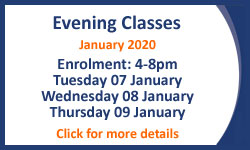 Evening Classes January 2018